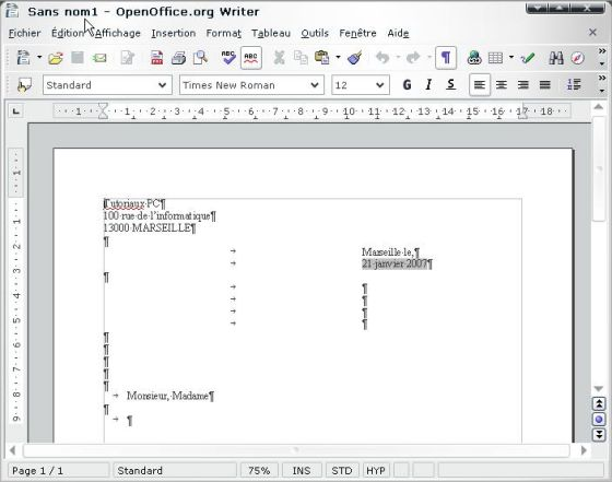 open office writer. images OpenOffice Writer