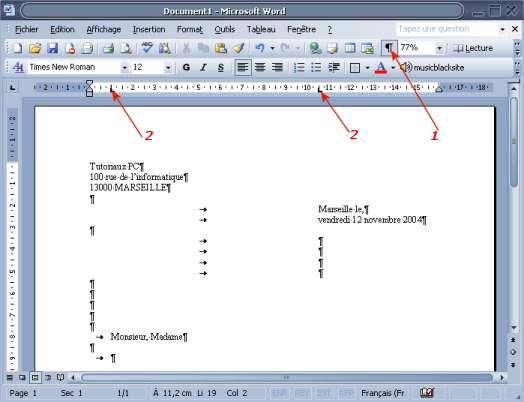 construire un mod u00e8le de lettre sous word xp 2002 2003