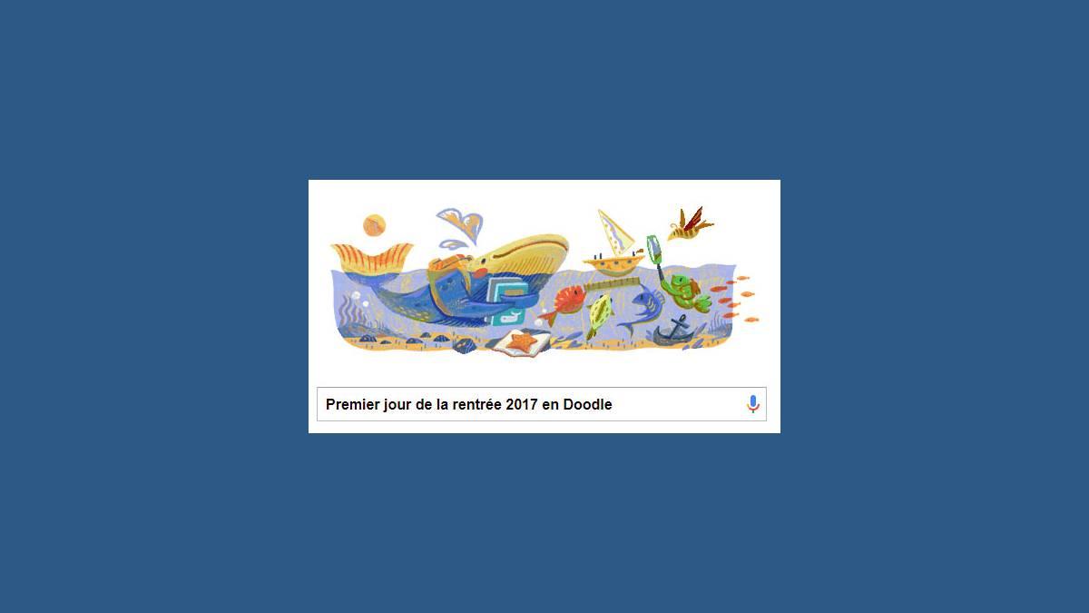 Doodle Google Rentrée des classes 2017