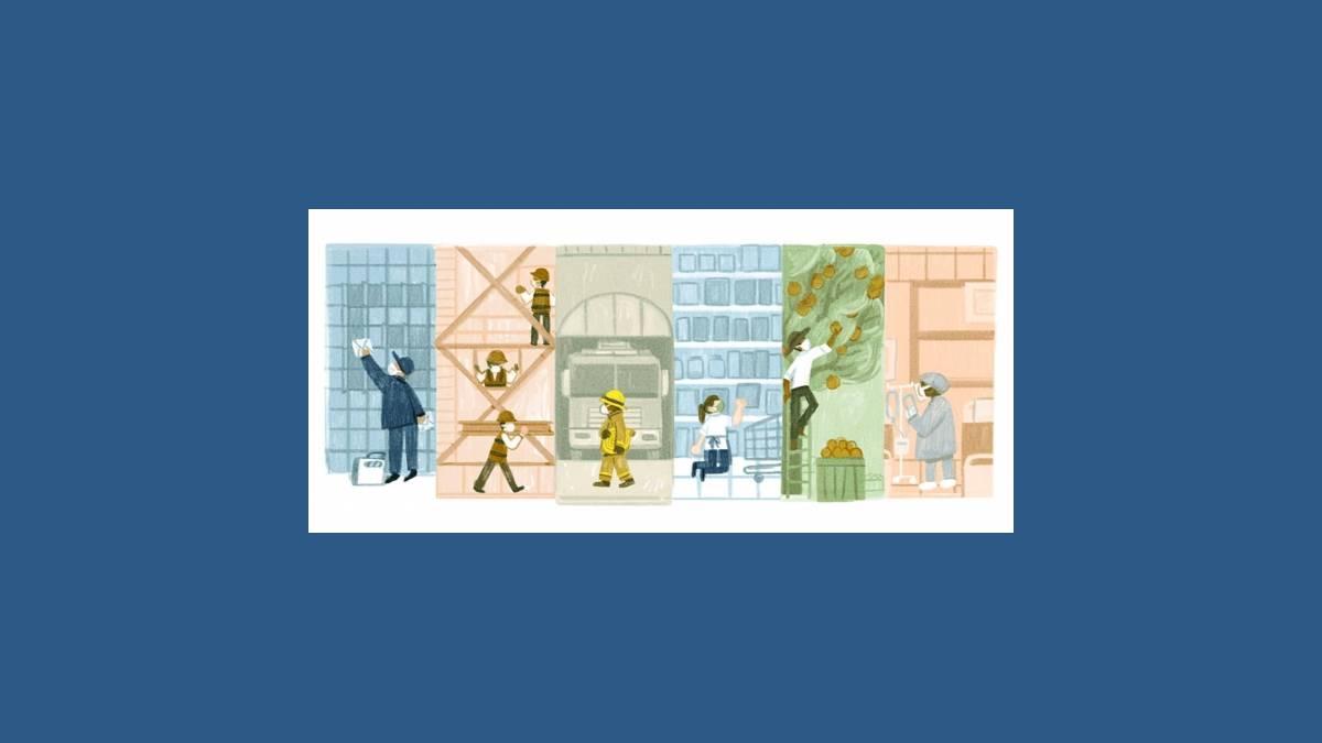 Doodle fête du Travail 2021 sur Google