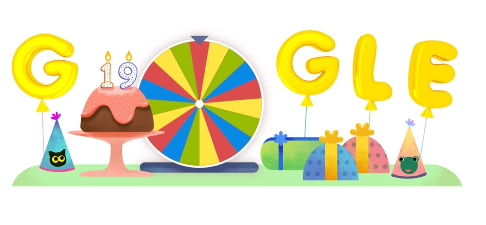 19 ème Anniversaire Google en Doodle