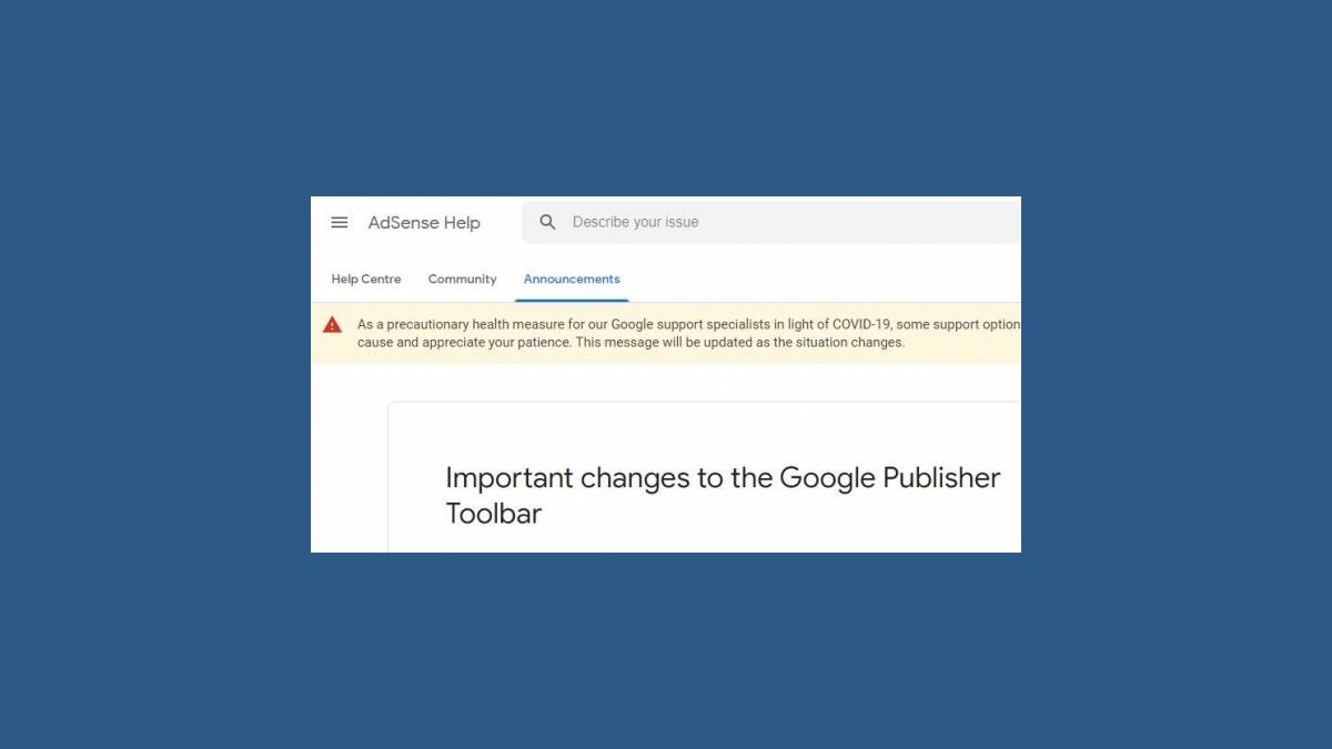 La fin du plugin Google Publisher Toolbar