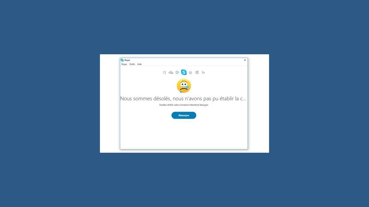 Panne de Skype sur PC